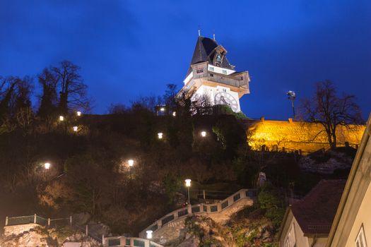 Clock Tower of  Graz Austria