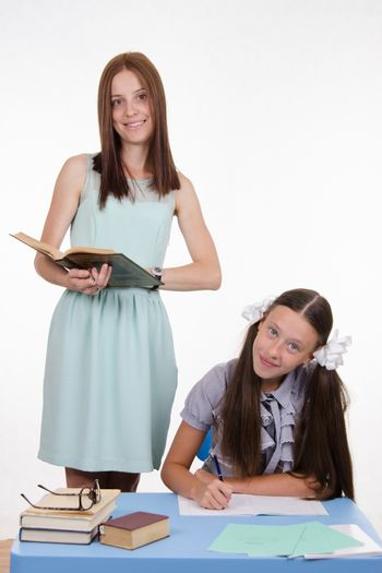 Tutor involved with the student