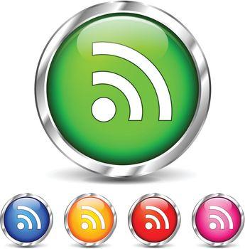 illustration of wifi icons set on white background