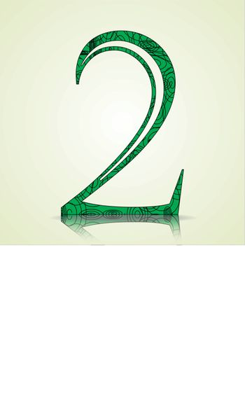 Number of Collection made of swirls - 2 Vector illustration
