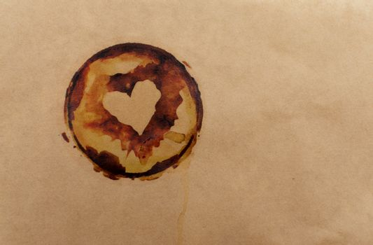 old paper with stains from coffee