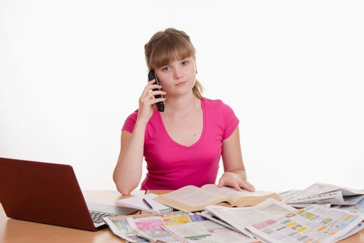 Upset girl calls employer