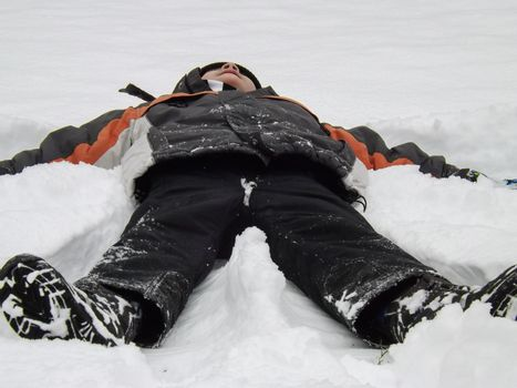 Snow angel I want to be that is my greatest desire