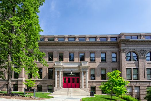 MADISON, WI/USA - JUNE 26, 2014: Eduction Building on the campus of the University of Wisconsin-Madison. The University of Wisconsin is a Big Ten University in the United States.