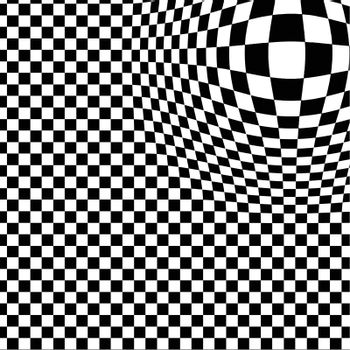 chessboard vector background with distortion