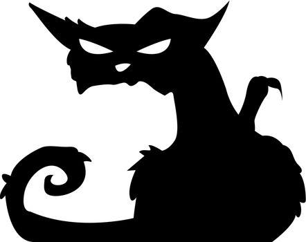 silhouettes cat