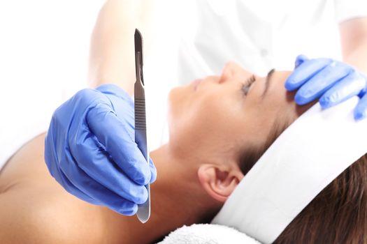 Scalpel, plastic surgery