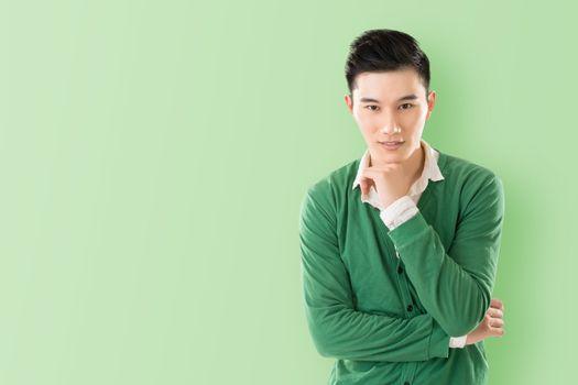 Sensitive Asian young man