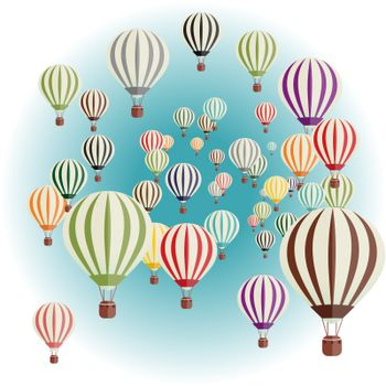Vector illustration of a set of balloons