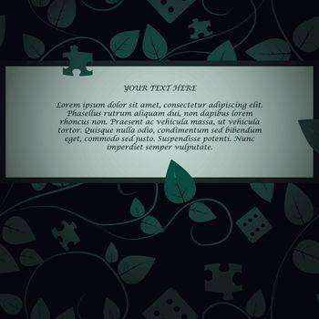Invitation card on dark tree background. EPS 10