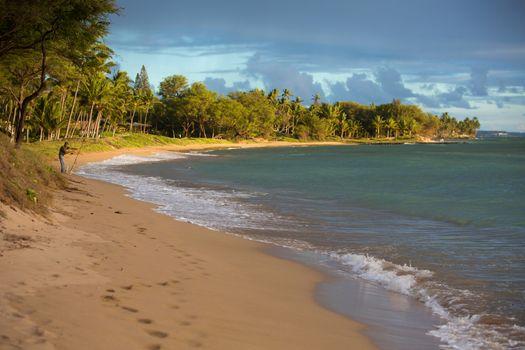 Kihei Beach with Distant Fisherman