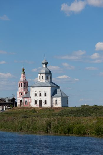 the building of ancient Russian Orthodox Church in the city of Rostov, Russia
