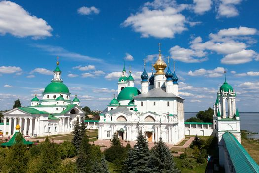 panorama of the ancient monastery in  Rostov, Russia