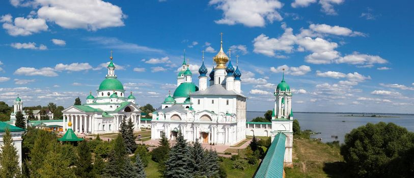 panorama of the ancient monastery in the city of Rostov, Russia