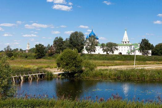 Panoramic view  of architecture the Kremlin,Suzdal, Russia