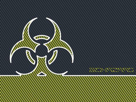 Green bio hazard warning background