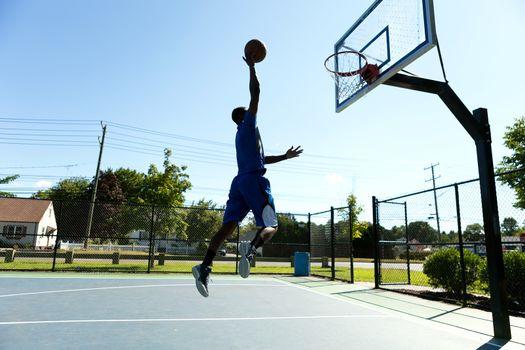 Basketball Dunk Outdoors