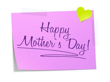 A paper with the message Happy Mothers Day