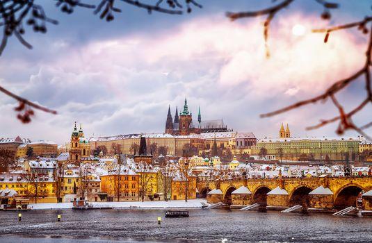 Beautiful Prague in winter