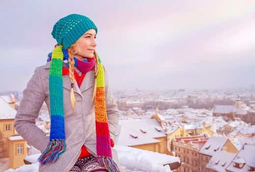 Enjoying Prague cityscape