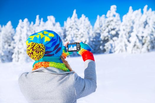 Photographing winter nature