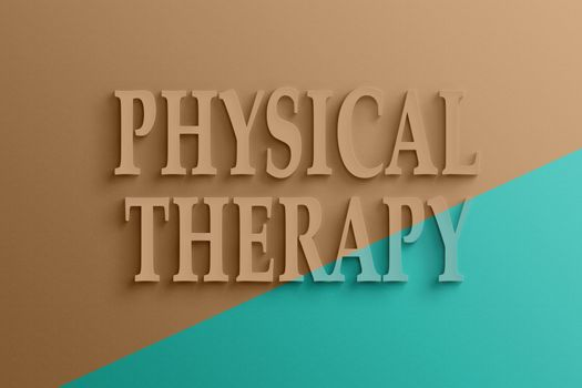 3d text of physical therapy