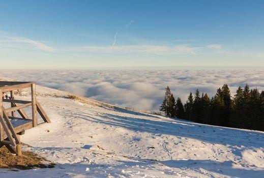 Beautiful sunrise in the Austrian Alps