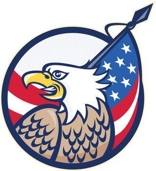 American Eagle Stars and Stripes Flag Retro