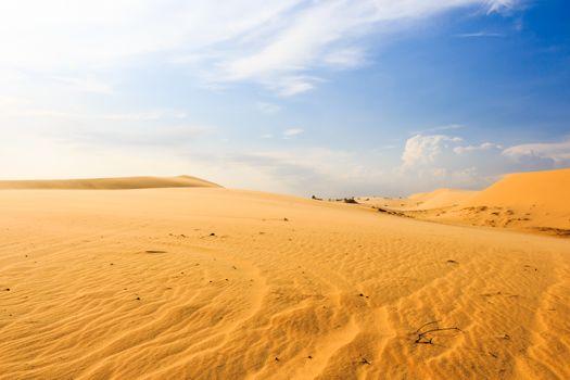 Wave on desert at Mui Ne, South Vietnam