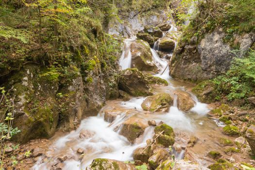 Barenschutzklamm , the most impressive and the best developed gorge in Styria, Austria