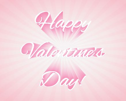 Valentine's day background with text and shadow