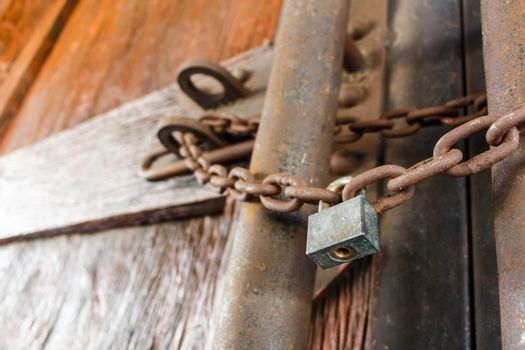 rusty chain and master key