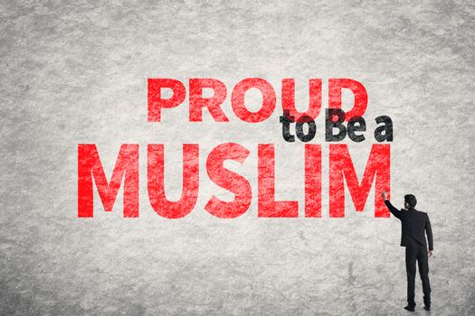 text on wall, Proud to Be A Muslim