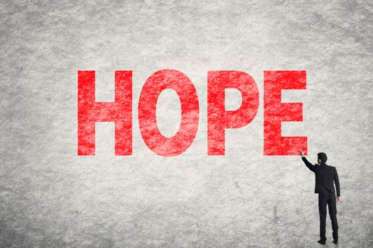text on wall, Hope