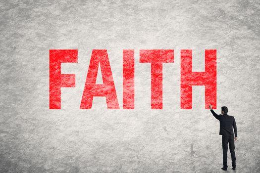 text on wall, Faith