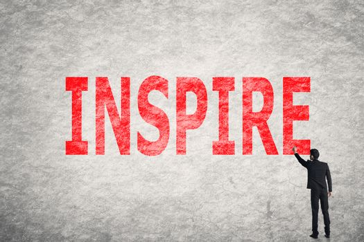 text on wall, Inspire