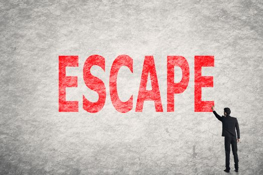 text on wall, Escape
