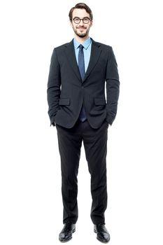Handsome entrepreneur, isolated on white