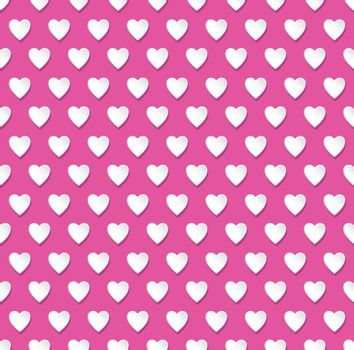 Abstract tileable seamless valentine's day heart patterned background