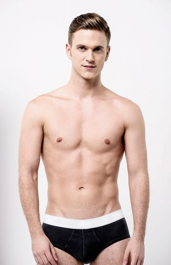 Healthy fit young man in underwear