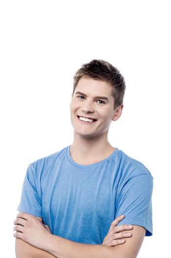 Confident casual man with folded arms