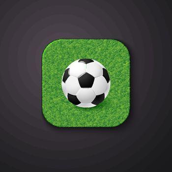 Football soccer icon stylized like mobile app. Vector illustration.