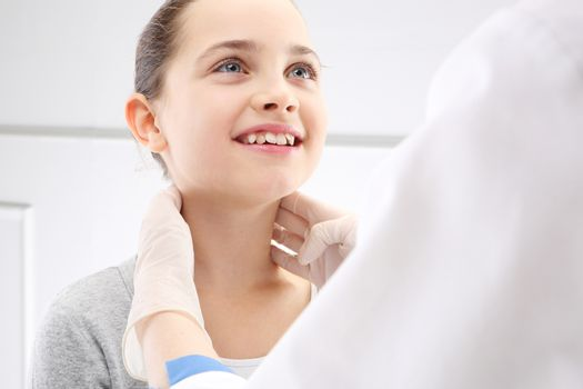 The girl in the office of a pediatrician, medical examination