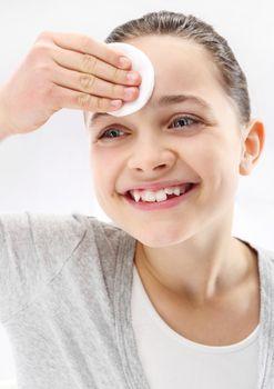 Teenager, facial skin care