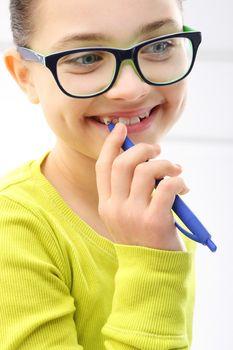 The joy of a child, a lovely girl