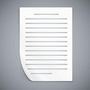 Empty paper three sheets.