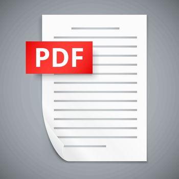 PDF paper sheet  icons