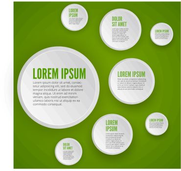 Infographic design on green background
