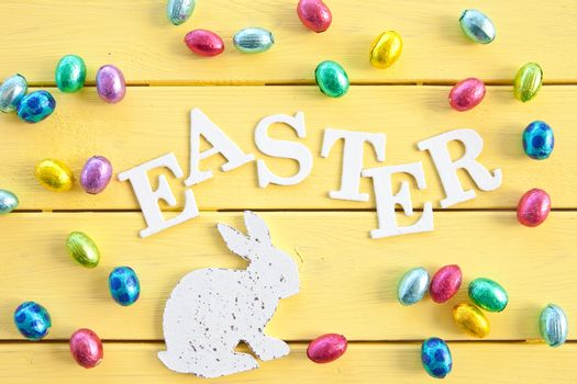 Chocolate eggs for easter
