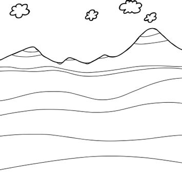 Outline Mountain Cross-Section